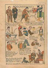 Caricature Politique Degrèvements André Tardieu Viager droit de Succession 1930