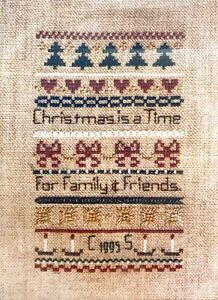 Caryn's Rustic Lane Christmas is a Time Australian Counted Cross Stitch Kit