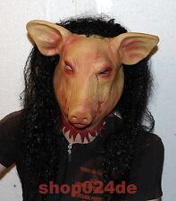 Halloween Horror Latex Maske Fasching Schweinemaske SAW Pig Deluxe Schwein Sau