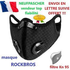 ROCKBROS masque de sport lavable/ 2 valves + son filtre au charbon actif