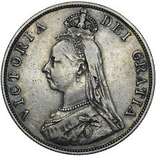 More details for 1889 double florin - victoria british silver coin - nice