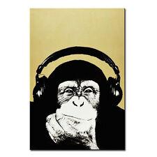 Andy Warhol - music monkey Art Silk Poster 24x36inch