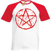 Pentagram T-Shirt mens S-3XL Biker goth rock punk satanic baseball metal