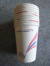 BRITISH AIRWAYS HOT BEVERAGE IN-FLIGHT CARDBOARD CUP x 10 WITH COMPANY LOGOS
