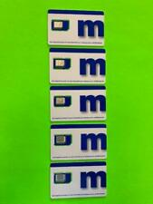MetroPcs-Metro By T-Mobile-4G Lte- 5 Pack-Sim Cards - Nano-Micro & Regular - New