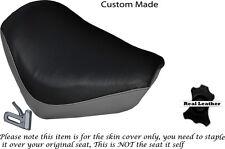 BLACK & GREY CUSTOM FITS YAMAHA XJ 700 MAXIM FRONT LEATHER SEAT COVER