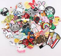 30 Pcs Random Patches lot Girls Kids Iron On For Clothing Applique DIY Sticker