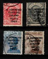 1922-Trieste-Congresso Filatelico -sass S 22 -  usato -4