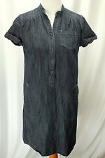 Tommy Hilfiger Women Blue Jean Denim Shirt Dress Size S Casual Half Button Down