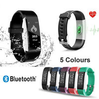 Waterproof Bluetooth Smart Bracelet Heart Rate Monitor Watch Fitness Tracker