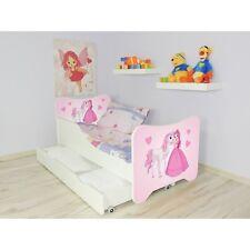Enfants Lit Princesse, pour Filles Enfants avec Matelas 140x70cm+Tiroir+Oreiller