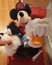 Disney New Year 2000 Mini Bean Bag Beanie Large Set Mickey Goofy Donald Top Hat