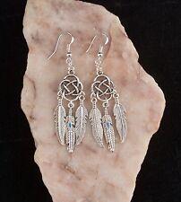 Tibetan Silver Celtic Knot 925 Sterling Silver Hook Earrings.Handcrafted