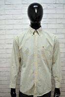 Camicia TOMMY HILFIGER a Quadretti Uomo Taglia XL Maglia Polo Shirt Men's Casual