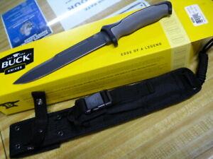 "BUCK 0651GYS NIGHT HAWK HUNTING KNIFE 7.5"" BLADE NYLON SCABBARD 651GYS"