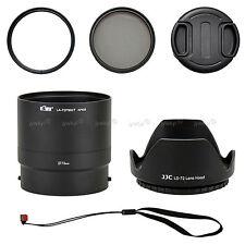 Kit Nikon Coolpix P600 Adaptateur Filtre 72mm UV CPL Pare-Soleil Capuchon
