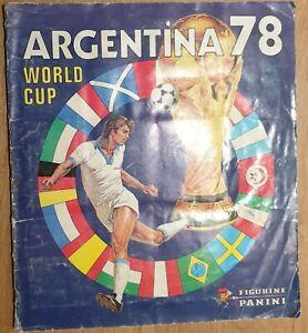 Panini WM 1978 Sammelalbum WC 78 KOMPLETT Album mit allen Sticker Stickeralbum