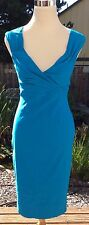 Pinup Couture Wiggle Pinup Couture Erin Dress Ocean Blue Sweetheart Neck Sz L