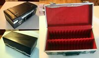 Cassette Tape Briefcase: storage holder case 30 Capacity faux-leather vintage B