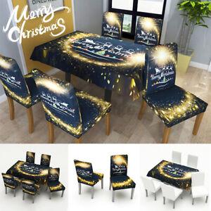 Weihnachten Decor Stuhlhussen Stuhlbezug Stuhlüberzug Tischdecke Tischwäsch