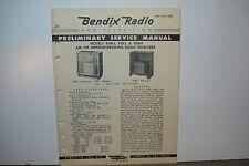 BENDIX RADIO SERVICE MANUAL MODELS 95M3 95B3 95M9 (8 PAGES)