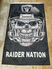 "Oakland Raiders ""The Black Hole"" Raider Nation 3*5 ft Flag Banner R002"