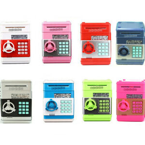 Kinder Spardose Tresor Safe Elektronisch Geldautomat ATM Passwort Sparbüchse NEU