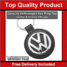 VW CADDY & MAXI LIFE GENUINE VOLKSWAGEN KEY RING TAG LOGO VW LEATHER POLISHED