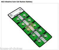 10 X AG3 LR41 392 SR41 ALKALINE BUTTON /COIN CELL WATCH BATTERIES UK SUPPLIER B3