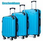 Reisekoffer 829 Koffer Trolley Hartschalenkoffer Handgepäck 4Rollen M-L-XL-Set <br/> ⭐⭐⭐⭐⭐ Zahlenschloss 360° 4-Rollen-System Farbwahl