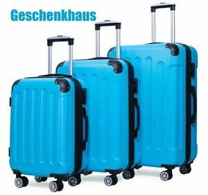 Reisekoffer 829 Koffer Trolley Hartschalenkoffer Handgepäck 4Rollen M-L-XL-Set