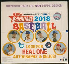 2018 Topps Heritage Baseball Trading Cards SEALED 24-Pack RETAIL BOX