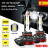 2X 55W 9005 HB3 20000LM Coche LED Faros Bombilla Lámparas Kit Xenón Blanco 6000K