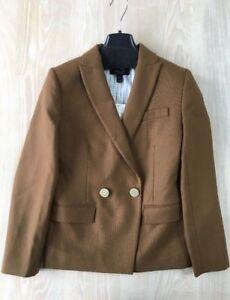 J.Crew Petite Dover Blazer in Italian Wool | 00P | Belgian Chocolate | $198