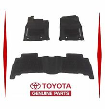 2016-2019 TOYOTA 4RUNNER FLOOR MATS RUBBER ALL WEATHER GENUINE OEM 3PC SET NEW