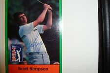 SCOTT SIMPSON AUTOGRAPHED CARD PGA TOUR