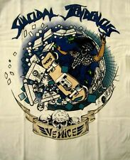 SUICIDAL TENDENCIES cd lgo VENICE SKATER Official White SHIRT SMALL new