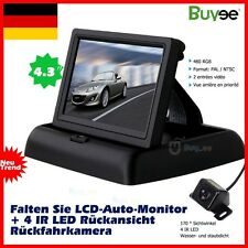 "Rückfahrkamera + NACHTSICHT + 4.3"" MONITOR Auto KFZ PKW Bus Kamera Car Camera"