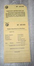 "VINTAGE NORTHERN PACIFIC ""Ticket Identification Envelope"""