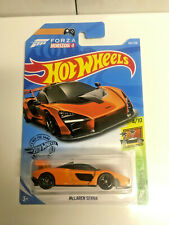 2019 Hot Wheels McLaren Senna Orange Super SUPER CUSTOM BLACK REAL RIDERS