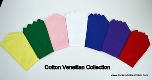 Pocket Square..100% Cotton...Venetian Collection