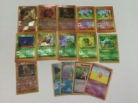 Pokemon Vintage Proxy Card Lot Of 15 RARE Holos Lightly Played Game Fake Bootleg