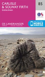 Carlisle & Solway Firth Gretna Green Landranger Map 85 Ordnance Survey Latest
