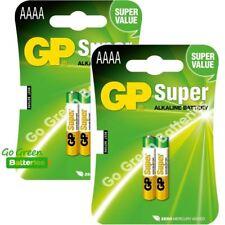 4 x GP AAAA 1.5V Alkaline Batteries MN2500 E96 GP25A LR61 25A Jabra Headset
