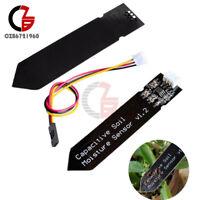 1/2/5/10PCS Analog Capacitive Soil Moisture Sensor Corrosion Resistant Cable Kit