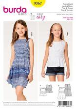 d8f524d7fa Burda Style Sewing Pattern - 9367 - Girl Girl Plus Dress and Top 6-