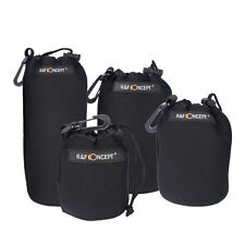Neoprene DSLR Camera Lens Pouch Protector Bag Case Set (4 Pack) KF Concept