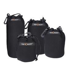 Neoprene DSLR Camera Lens Pouch Protector Bag Case Set (4 Pack) KF Concept