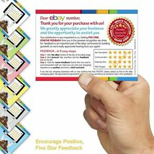 Ebay Seller Service 5 Star Rating Cards Flyers✔We Can't Wait to Hear From You