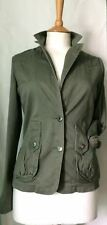 Ladies green military style jacket by Papaya